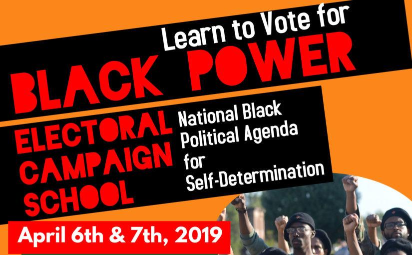 "The Ballot and the Bullet Electoral School: ""Can Electoral Politics be a Path Towards Black Self-Determination?"""