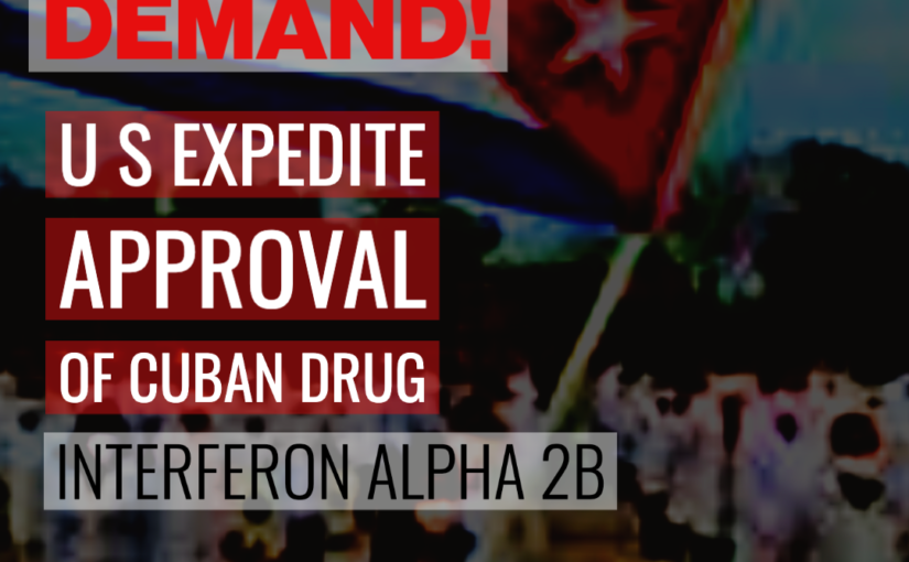 Black Is Back Coalition & People's Organization for Progress join call for  FDA to expedite approval of Cuban drug