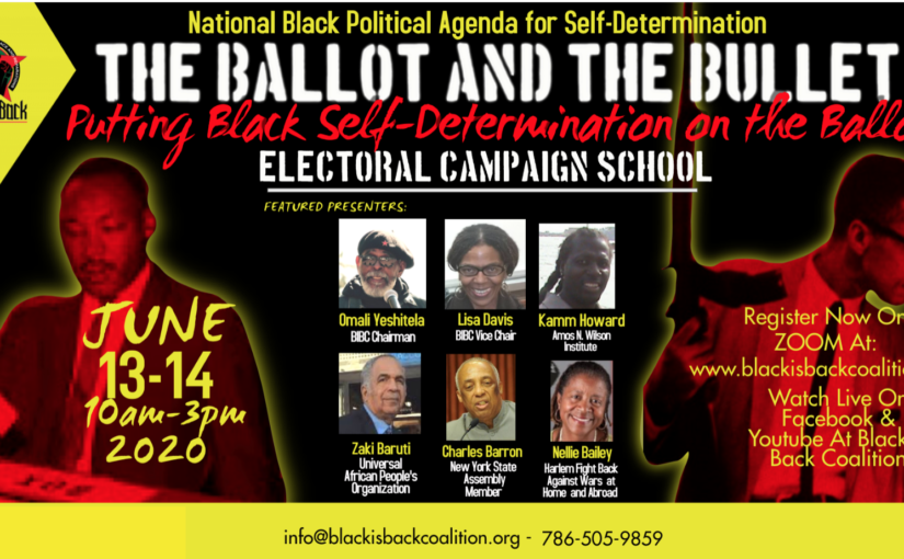 The Ballot and the Bullet: Putting Self-determination Back on the Ballot! Electoral Campaign School