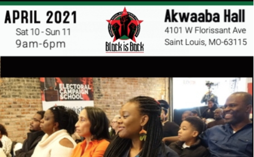 Register for the Black is Back Electoral Campaign School